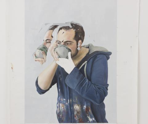 Sans titre-peinture à l'huile sur toile libre-2015-11cm/165cm