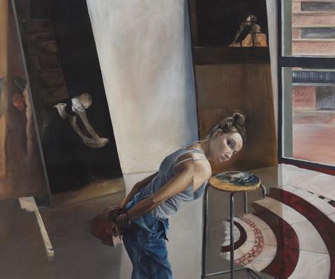 Elisa-peinture à l'huile sur toile-2015-162cm/124cm