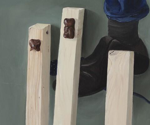 Les trois ours-peinture à l'huile sur toile-2016-35cm/53cm