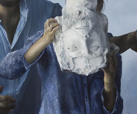 Sans titre-peinture à l'huile sur toile-2015-79cm/93cm