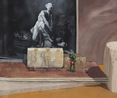 Les petits soldats-peinture à l'huile sur toile-2016-66cm/60cm